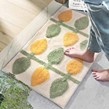 Bath Rug Green Theme Doormat Non Slip Soft Bright Mat for Front Door Ornament