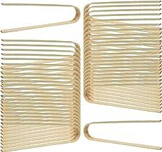 wexpw Mini Bamboo Tongs, 60pcs Wooden Tongs Mini Bamboo Toast Tongs Toast Tongs Disposable Cooking Utensils for Cheese Bac...
