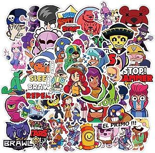 50PCS Brawl Stars Game Stickers Aesthetic Cartoon Star Hero AnimeGraffiti Pegatinas Suitcase Suitcase Waterproof