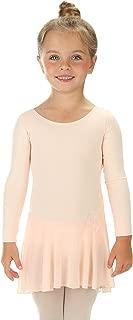 Elowel Kids Girls Ruffle Long Sleeve Skirted Leotard (Size Toddlers-14 Years) Multiple Colors