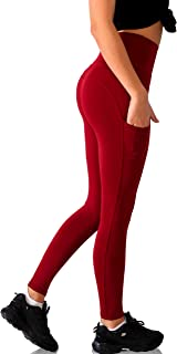 Trilece Womens Leggings High Waisted Tummy Control Workout Yoga Pants with Pockets