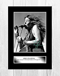 Engravia Digital Janis Joplin (1) A4 Poster with Reproduction Autograph Picture Photo A4 Print (Unframed)