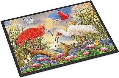Caroline's Treasures Scarlet and White Ibis Door Mat doormats, Multicolor