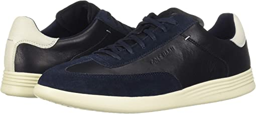 Navy Ink Leather/Suede