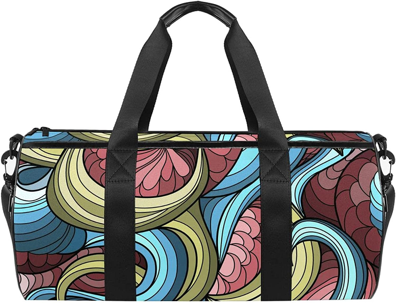 Max 62% 25% OFF OFF Abstract Colorful Pattern Gym Bag Weekend Spo MenWomen Bags for