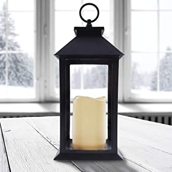 XXL Laterne mit 3 LED Kerzen Deko Laterne 70 cm mit