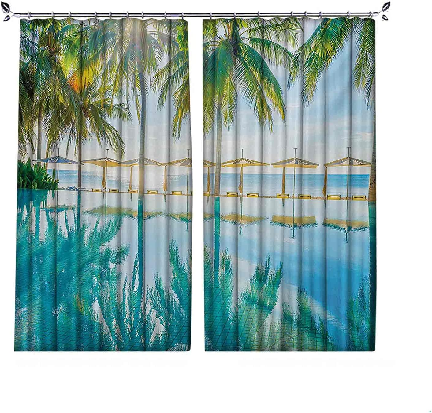 90% Blackout Landscape Curtains Pool by At the price The Beach Philadelphia Mall Seasonal with