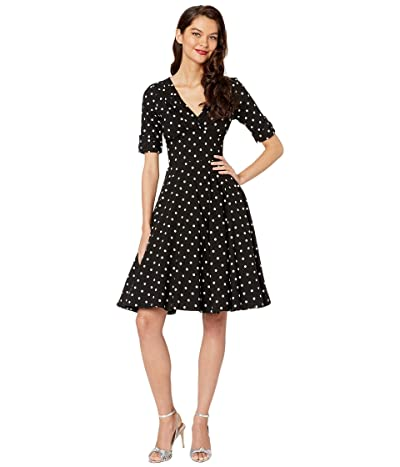 Unique Vintage Delores Dress (Black/White) Women