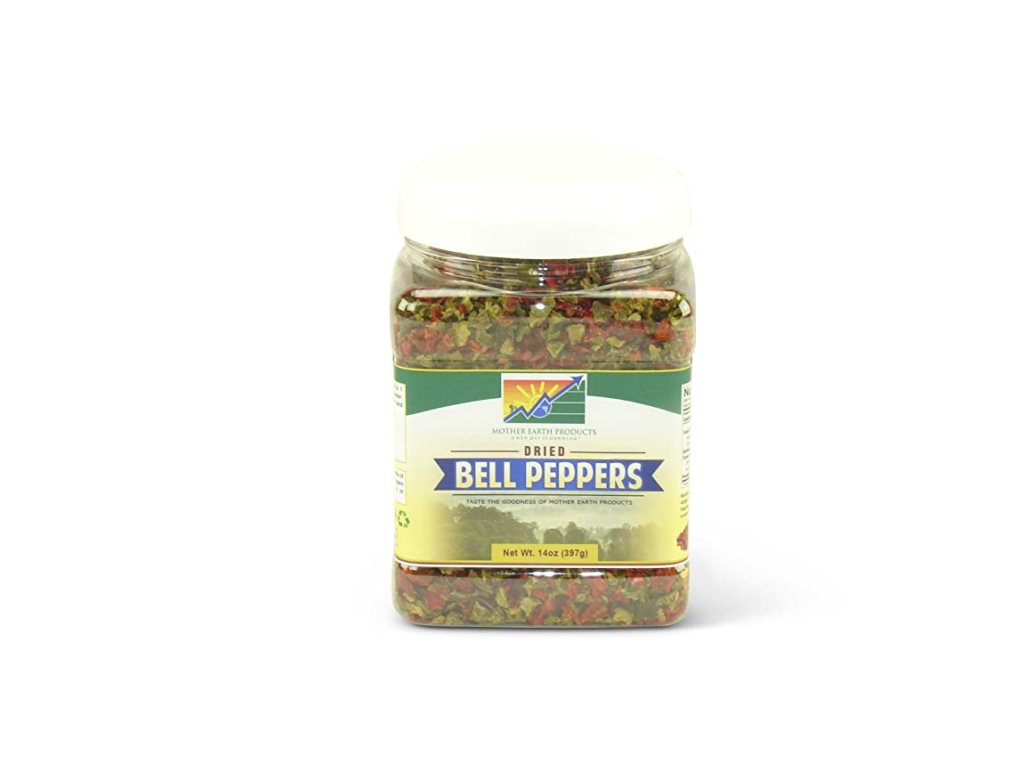Mother Earth Products Dehydrated Mixed Bell Peppers Jar, 9 oz