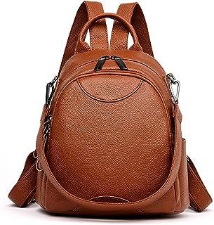 Wujianzzhobb حقيبة ظهر رياضية، حقيبة ظهر جلد للنساء بسعة كبيرة حقيبة سفر ، حقائب مدرسية للفتيات في سن المراهقة حقائب الكتف...