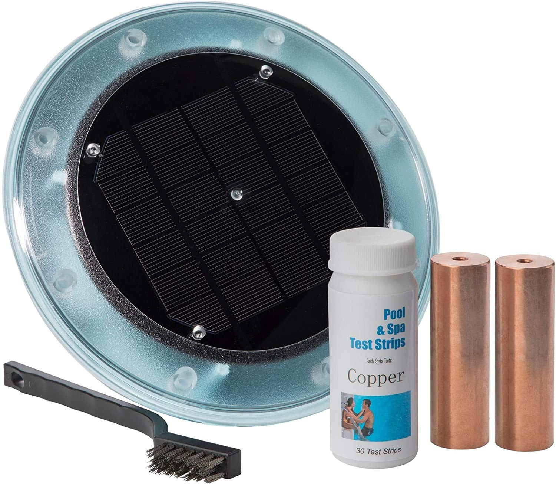Pico productos ionizador Solar para Piscina, Mata algas con 85% menos de cloro, 100% natural, mantiene el agua Crystal Clear – Treats piscinas hasta 35.000 galones y ...