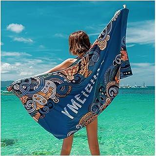 XJLXX ビーチタオル女性用スイミングバスタオル日焼け止めシーサイドショール舗装速乾性フィットネス吸収性タオル バスタオル