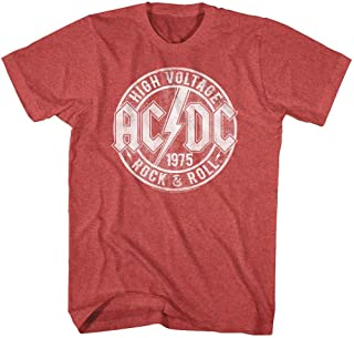 ACDC Heavy Metal Rock Band High Voltage Rock & Roll Adult T-Shirt Tee
