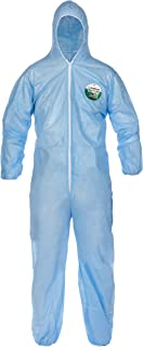 Lakeland SafeGard Economy SMS Coverall with Hood, Disposable, Elastic Cuff, X-Large, Blue (Case of 25)