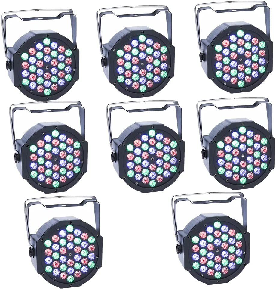 8Pcs LED Par Max 62% OFF Lights JCYWFLODY 36LEDs Stage Ac Bargain sale Sound 361W