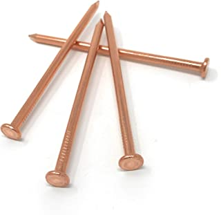 Pack of 22, 3.5 inch USA Made Pure Copper Nails, Solid Reliable