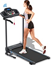 SereneLife Smart Electric Folding Treadmill – Easy Assembly Fitness Motorized Running..