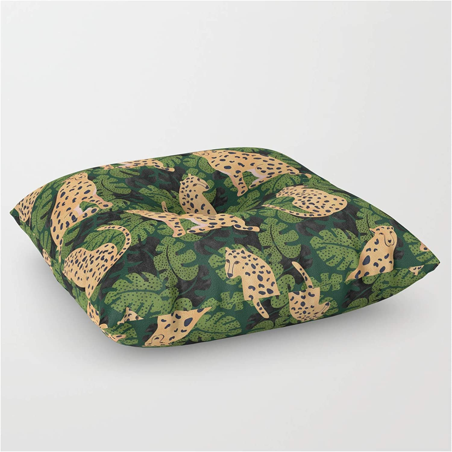 Society6 Cheetah Pattern Max 50% OFF New York Mall by Rose Gold - Floor Pillow on Square
