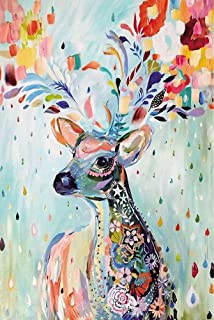 Agirlgle Wood Jigsaw Puzzles 1000 Pieces for Adults, 1000 Pieces Jigsaw Puzzles-Flower Deer,Every Piece is Made of Basswoo...