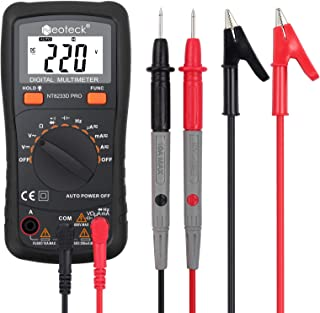 Neoteck Auto Ranging Digital Multimeter, AC/DC Amp Ohm Voltage Tester Meter with..