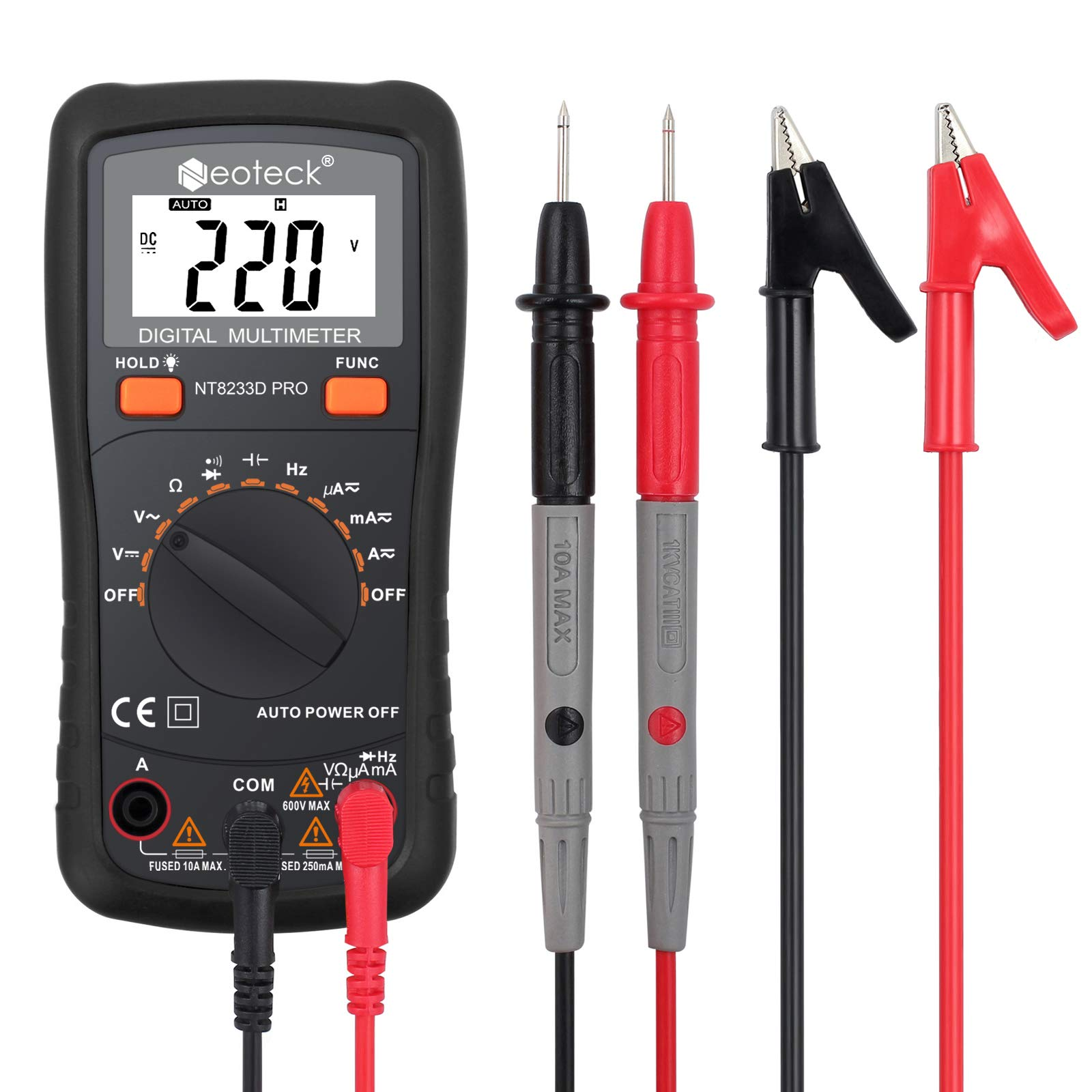 Neoteck Multimeter Resistance Continuity Capacitance