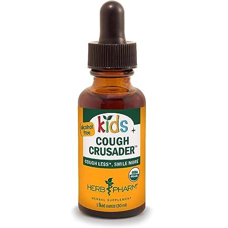 Herb Pharm Kids Certified-Organic Alcohol-Free Cough Crusader Liquid Herbal Formula, 1 Ounce