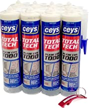 Lijmset Total Tech Beige Box 12 patronen 290 ml + sleutelhanger / flesopener als geschenk (beige)