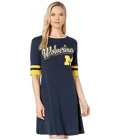 Champion College Michigan Wolverines Field Day Dress (Gear Navy/John Deere Yellow) Women