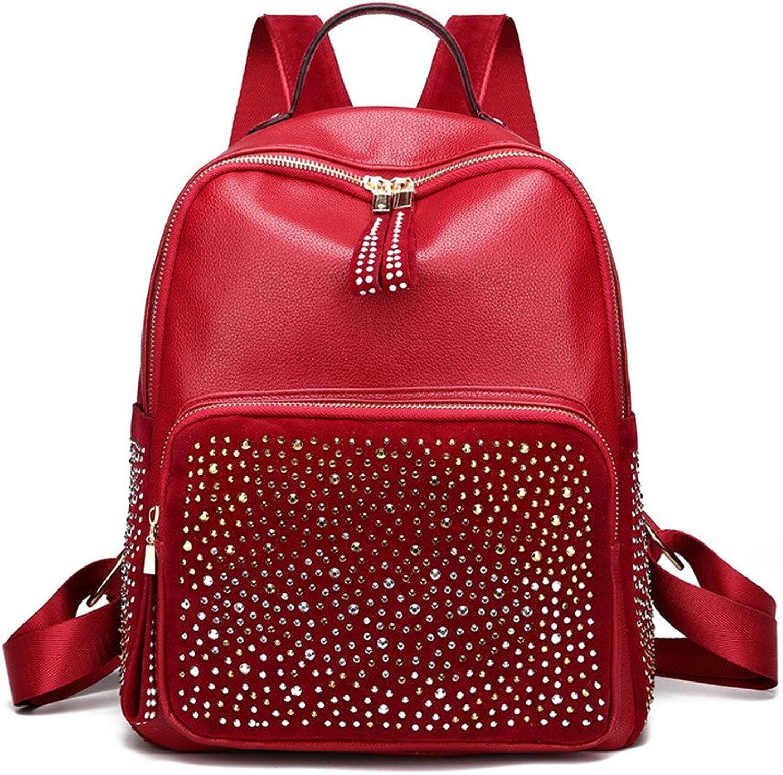 Meaeo Neue Modische Schultertasche Handtasche Handtasche Handtasche Rucksack Schultasche Große Kapazität, Gules B07C5ZB68C  Queensland edd88e