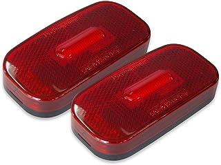 Dream Lighting Pack of 2 LED Oblong Side Marker Lights RV Caravan Motorhome Trailer 5 wheel campers Trucks Lorry AUTO Clea...