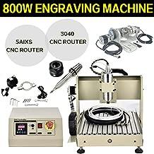 SD&ZC 5 Axis CNC 3040 Router Engraver USB Art Engraving Milling Machine 800W VFD Motor