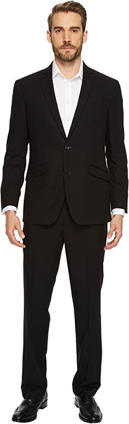 Slim Fit Solid Black Suit