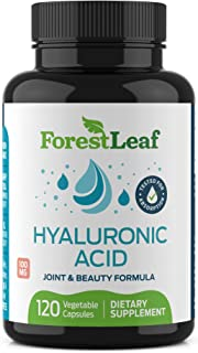 Sponsored Ad - Hyaluronic Acid Dietary Supplement, 100 mg - 120 Vegetable Capsules – Joints, Bones and Connective Tissue F...