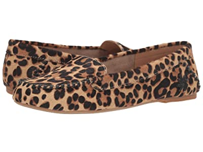Jack Rogers Millie Haircalf Moc (Leopard Print) Women