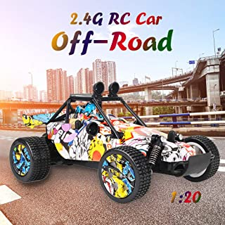 Hippopy rc off-road cars KYAMRC 1811 2.4G 1:20 Graffiti RC Buggy Racing Car Off-road Car Truck Gift for Kids Indoor Outdoo...
