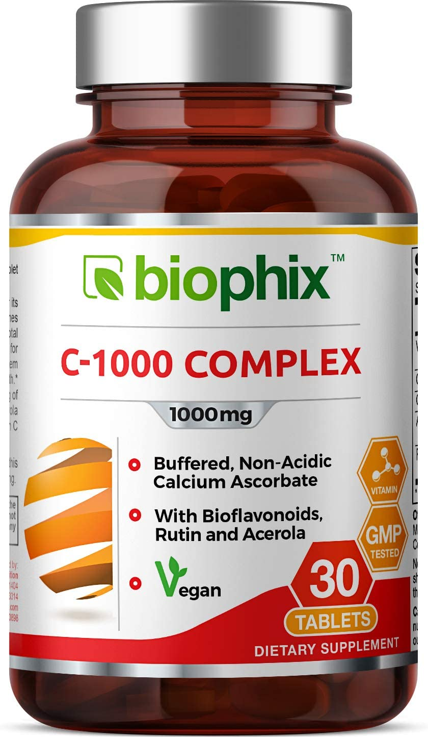 shop Vitamin C-1000 mg 30 Tablets Directly managed store Complex - Calcium with Citrus Vegan