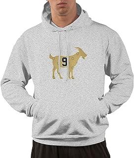 Men's Funny Drew -Brees Goat Hooded Sweatshirt Gray