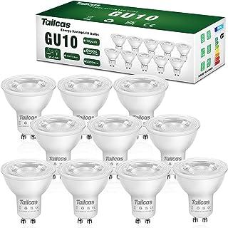 Spots Ampoules GU10 Led 7W, Équivalent Spots Halogene 50W, Spot Led 6000K, AC 220-240V, Non Dimmable, 10 Packs (Blanc Froid)