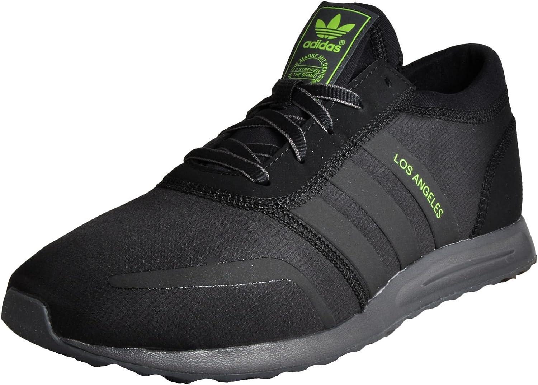 Adidas Originals Los Angeles Mens Trainers Sneakers shoes (UK 7 US 7.5 EU 40 2 3, Black Yellow AQ4554)