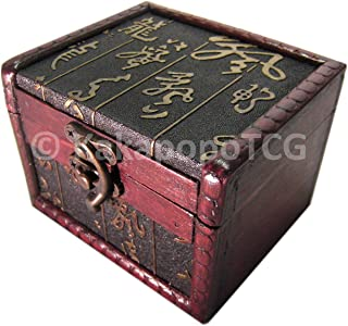 S02-AS Wood Single Deck Box for Protector Sleeve Trading Cards TCG Ultra Pro MTG Magic the Gathering Pokemon YGO Yugioh Wow Vanguard Lord of the Rings EDH Commander