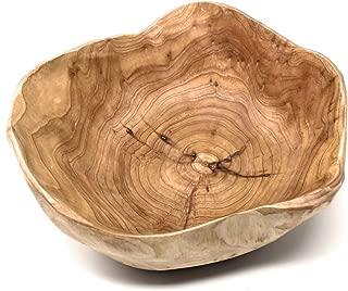 THY COLLECTIBLES Wooden Bowl Handmade Storage Natural Root Wood Crafts Bowl Fruit Salad Serving Bowls (Medium 10