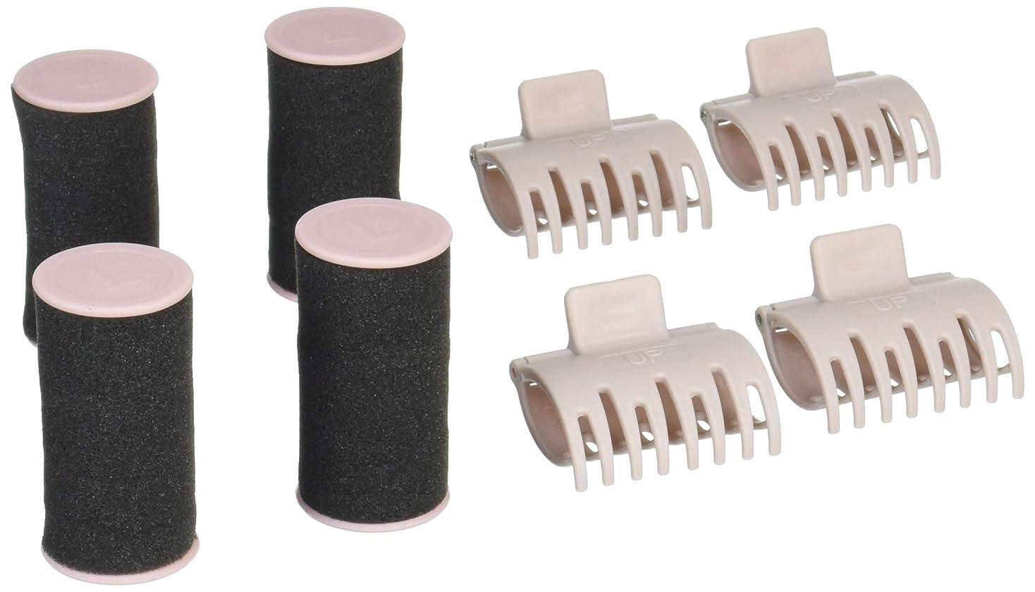 配管工変更可能病んでいる滝川 ビナールプチ モイスチャーカーラー 専用カーラー Lサイズ4本セット(クリップ付き)