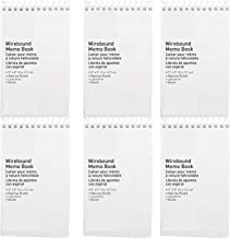 Memo Pad, Small Spiral Notebook, Narrow Ruled - Wire bound Memo Books - Hard Sturdy Cover – 50 Sheets, 5 x 3 Inch, Compact...