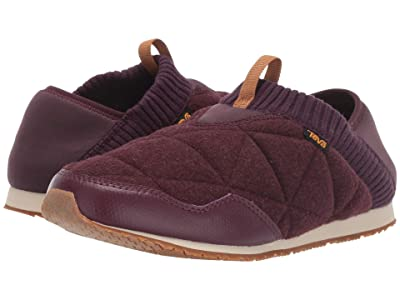Teva Ember Moc Wool (Dark Red) Women