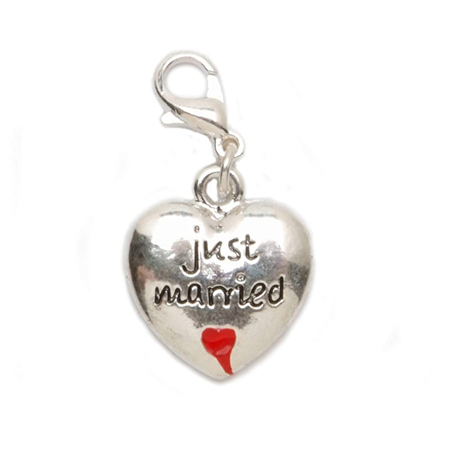 Darice JY080522 Lobsterclaw Charm Just Married