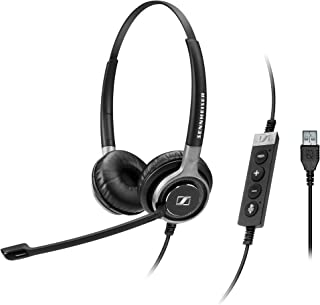 Sennheiser SC 660 USB ML (504553) - Double-Sided Business Headset | For Skype for Business | with HD Sound, Ultra Noise-Cancelling Microphone, & USB Connector (Black)