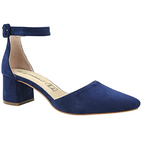 621c2e5d3e Greatonu Party Dress Pump Adorable Low Block Heel Closed Toe Chunky Sandals