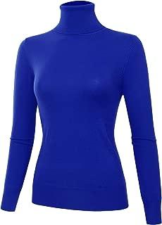 Allsense Women's Slim Fit Long Sleeve Pullover Lightweight Turtleneck Knit Sweater