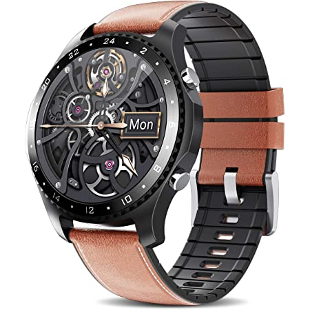 Black Smart Watch,with Call Function Health and Fitness Smartwatch with Temperature Heart Rate Blood Pressure SpO2 Monitor0 Sleep Tracker Black for Android iOS Phone for Men
