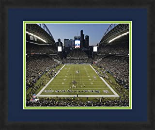 """NFL Seattle Seahawks CenturyLink Field, Beautifully Framed and Double Matted, 18"""" x 22"""" Sports Photograph"""